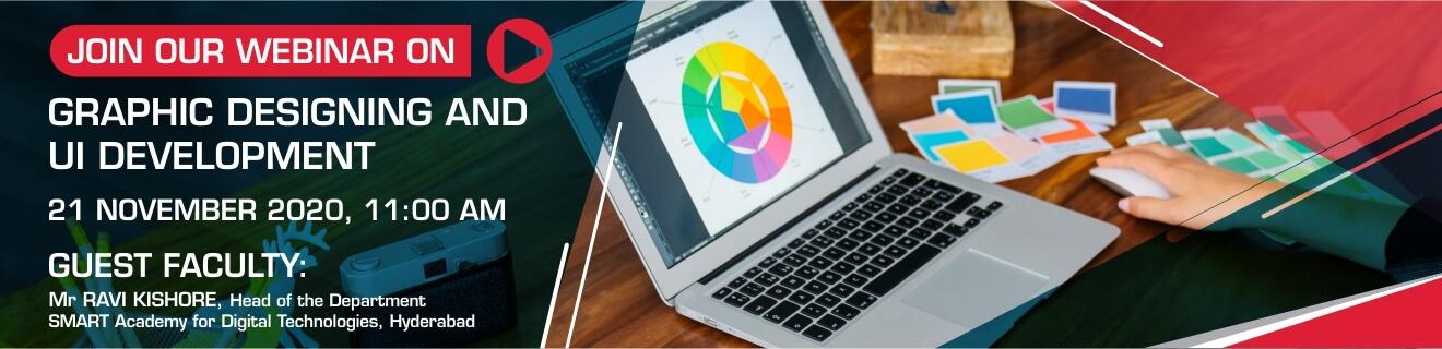 Graphic Designing and UI Development Webinar Banner